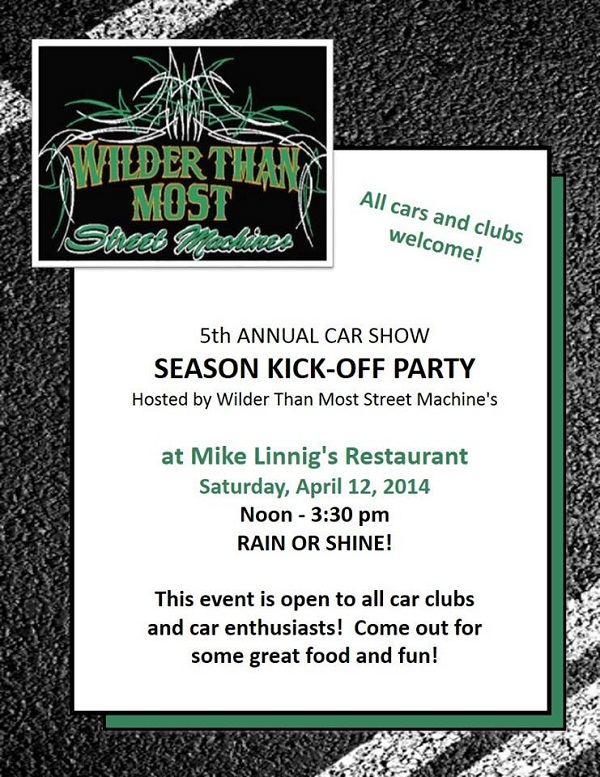 Wilder Than Most Car Show And Cruise Calendar